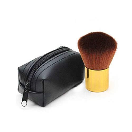 Professionnel Pinceau Blush, Polissage Pinceau Fond De Teint Couverture Uniforme Pinceaux Maquillage Pour Poudre Cosmétique-d'or-avec Sac