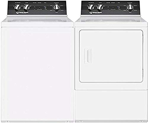 Speed Queen White Top Load Laundry Pair with TR5000WN 26' Top Load Washer and DR5000WG 27' Gas Dryer