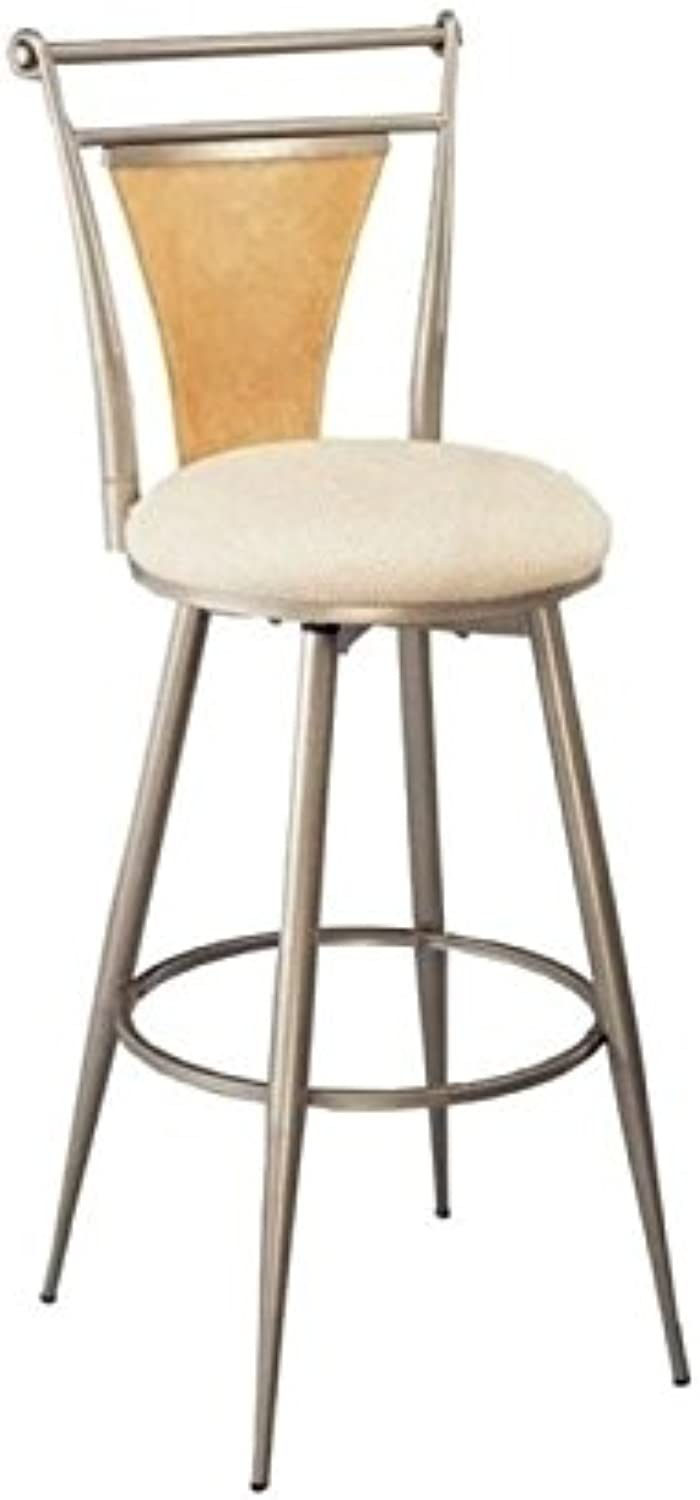 Bowery Hill 24  Swivel Metal Counter Stool in Champagne