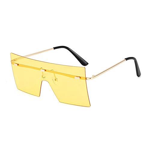 Gafas De Sol Hombre Mujeres Ciclismo Gafas De Sol Rectangulares De Moda para Mujer Gafas De Sol Cuadradas Sin Montura Mujer Azul Rosa-1-Dl5257-C6