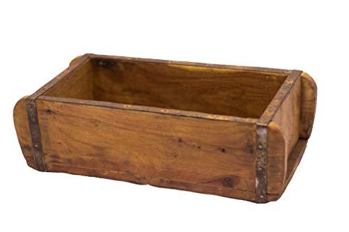 Alte Ziegelform mit schönen Beschlägen und Filzfüßen, 30,5x14x8,5cm,UNIKAT, vintage Backsteinform, gebürstet und gewachst, sehr schön Handaufbereitet, sehr gute Qualität, Deko-Kiste