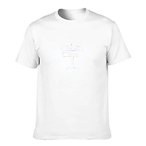 Chicici Fashion Camiseta de algodón para hombre con cuello redondo ultra suave, diseño de dibujos animados satíricos para el hogar