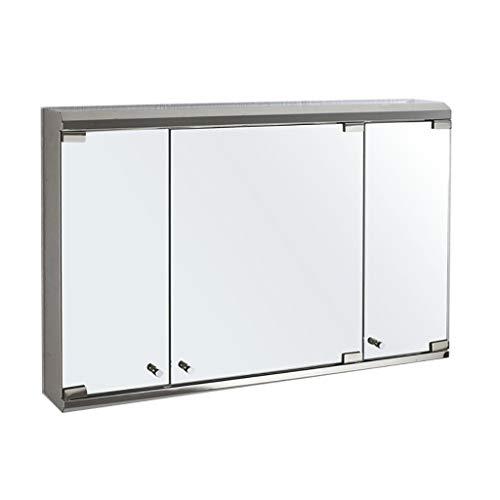 HSRG Wandmontage Badkamer Medicine Kast met Spiegel en Plank RVS Badkamer Drievoudige Spiegel Deurkast (afmeting: 800x550x130mm)