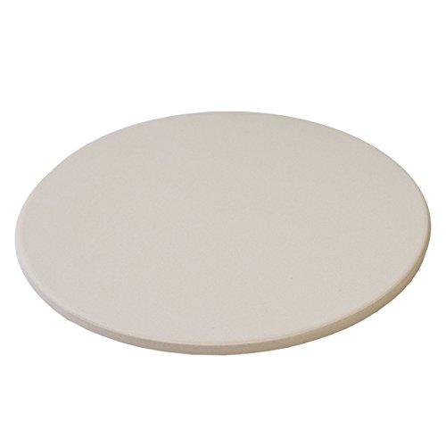 TAINO Pizzastein Pizzaplatte Grillplatte ø29 cm Brotbackstein rund - Flammkuchen Brot Teig - für Backöfen Holzkohle- und Gasgrills