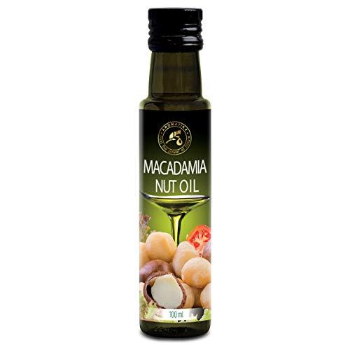 Aceite de Macadamia 100ml - Comestible - Prensado en Frío - Aceite de Argán para la Alimentación & la Salud - Macadamia Integrifolia - Aceite de Argán Marroquí Crudo 100% Puro & Natural
