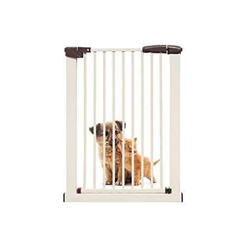 【RAKU】 ベビーゲート 3.5cm柵間隔 取付幅62.5~166cm選択可 オートクローズ 穴開け不要 突っ張りタイプ ペットゲート ドア付き 扉自動開閉 前後90度開閉 拡張フレーム付き 高さ76cm(62.5~72cm(高さ76cm))