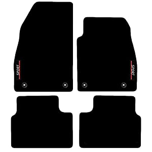 Carsio L64-CARP-CUT-1315-(33 x 4) Alfombrillas a Medida con Logotipo para Vauxhall Insignia 2008 a 2013, Color Negro