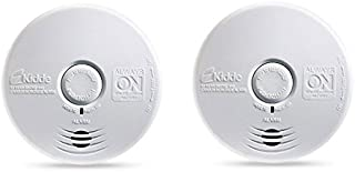 Kidde P3010K-CO Worry-Free Kitchen Photoelectric Smoke and Carbon Monoxide Alarm with 10 Year Sealed Battery (Pack of 2)