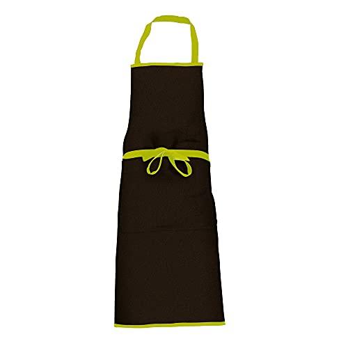 Tablier de Cuisine Noir et Vert - 100% Coton - Unisex - Cook'In Garden