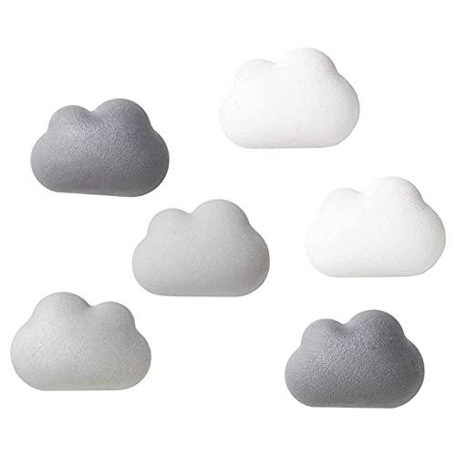 N\C Imán de Nevera 3D de 6 Piezas, imán de Nevera de CD en la Nube ABC, Pizarra Blanca de Oficina, decoración del hogar, imán de Color