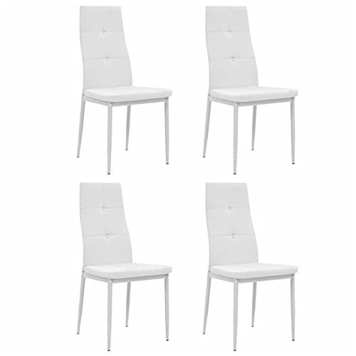 Homeland 4 sillas de comedor modernas blancas estilo comedor elegante diseño ergonómico silla respaldo elegante silla silla elegante asiento acolchado