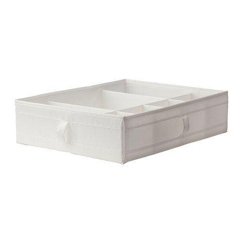 Ikea SKUBB Kasten mit Fächern, weiß, Polyester, White, 77 x 18 x 3 cm