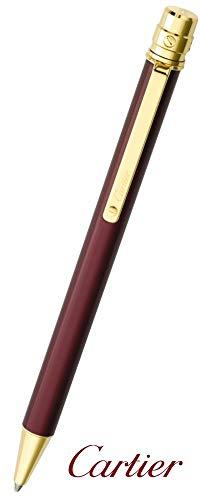 CARTIER(カルティエ) ST150190 SANTOS DE CARTIER サントス ドゥ カルティエボールペン ゴールドフィニッシュ ゴールド×ワイン