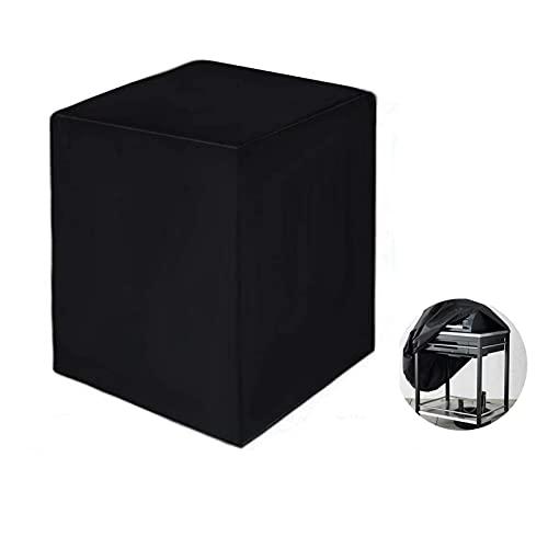 XHDZSW Funda para Barbacoa,Funda para Barbacoa Impermeable, Cubierta BBQ de Parrilla 210D Oxford Protector, para Barbacoa Anti-Viento/UV/Impermeabilidad (68 x 68 x 72 cm)