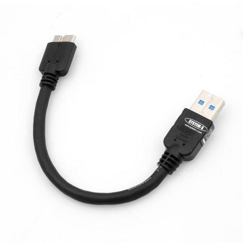 SYSTEM-S Sistema di S Corti Cavo Micro USB 3.0(USB 3.0Micro-B) Cavo Dati Cavo di Ricarica 10cm per Samsung Galaxy Note 3