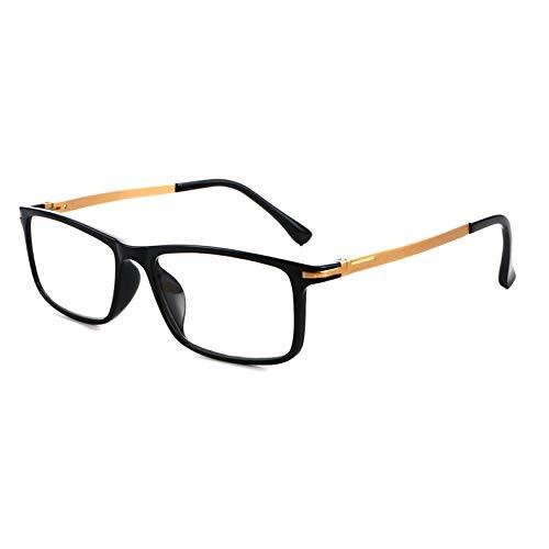 LINGNING Gafas de Lectura Black Frame Spring Binge Anti Fatiga y Blue-Ray Presbyopic Glasses, 2.50D ZPF los anteojos