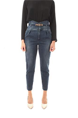 Pinko Ariel 3 Jeans Chinos da Donna BLU,1J10GN-Y62Q