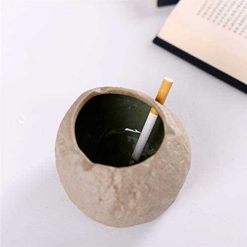 Neaer Cenicero retro para el hogar con personalidad creativa mesa de café de regalo cenicero de cerámica (color: cenicero ovalado)