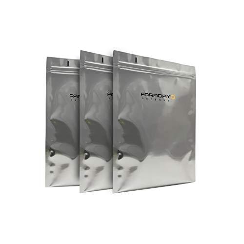 Faraday Cage EMP/ESD-Taschen, hochwertig, 8 x 10, dick, robust, für mittelgroße Notebooks, externe Festplatten, iPad Windows