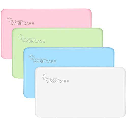 BESLIME Tragbare Aufbewahrungsbox, staubdicht und hygienische Aufbewahrung, ideale Größe für die Handtasche, Rucksack etc, tragbar, Kunststoff, staubdicht, weiß, rosa, blau, grün, 4 Stück