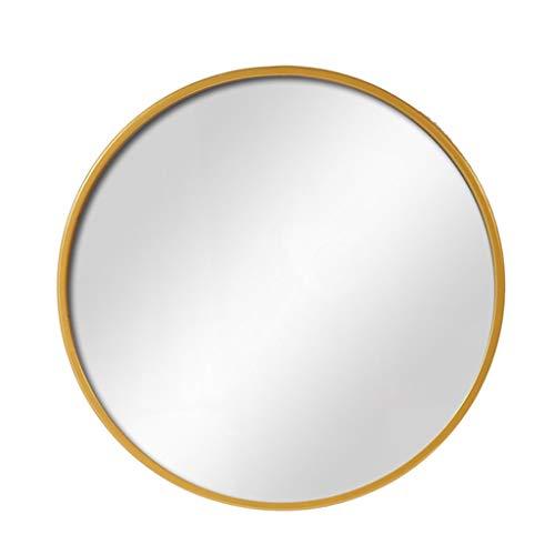 Miroirs de salle de bain en métal Miroirs de vanité muraux Miroir de maquillage mural en fer rond pour salon, chambre à coucher, 40-70cm disponible Décoration Miroirs