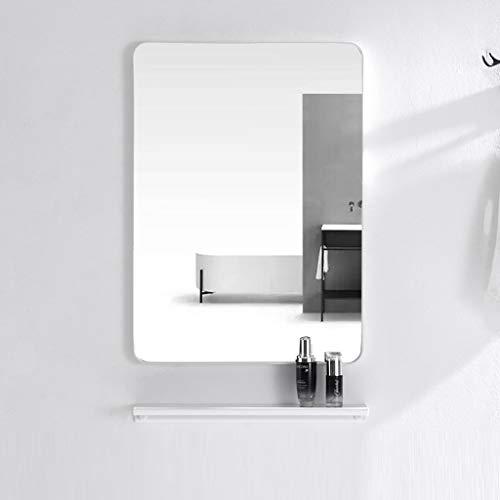 Wandspiegel Badspiegel Badezimmerspiegel Wand Badezimmer-Spiegel, Aluminium Rahmen Dekoration Rasierspiegel HD wasserdicht Verfassungs-Spiegel Rasierspiegel mit Regal