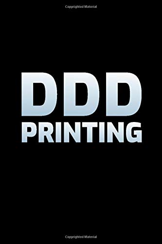 DDD Printing: 3d Printer Operator Gift Blank Lined Journal Notebook Diary