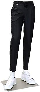 [バルバッティ] ロングパンツ イタリア製 ストレッチ ウール ワンタック ドローコードパンツ メンズ カジュアルパンツ 23000B