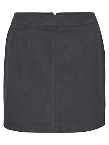 VERO MODA Damen VMDONNADINA Faux Suede Short Skirt NOOS Rock, Asphalt, S