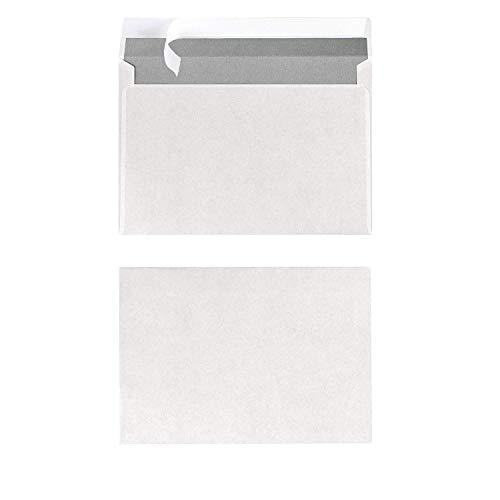 Herlitz Briefumschlag C6 Haftklebend, 100 Stück mit Innendruck in Folienpackung, eingeschweißt, weiß