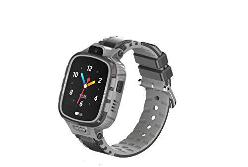 Simmotrade® GPS Tracker Uhr für Kinder Wasserdicht, Telefonieren, Notruf, Chaten,Kamera (sw/gr).