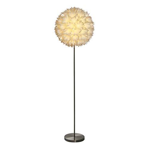 AILI Pieds de Lampes Lampadaire Abat-Jour Blanc Fleur Minimaliste Européen Blanc, Lampe De Sol Créatif Salon Chambre Luminaires intérieur Pieds de Lampes