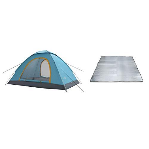 YYDE Automatische Instant-Zelt - Kuppelzelt knallen Oben Zelt - Tragbare Cabana Beach Tent - Passend für 2 Personen - Fenster und Türen auf beiden Seiten - Wasserdicht, 200 * 150 * 120cm,2