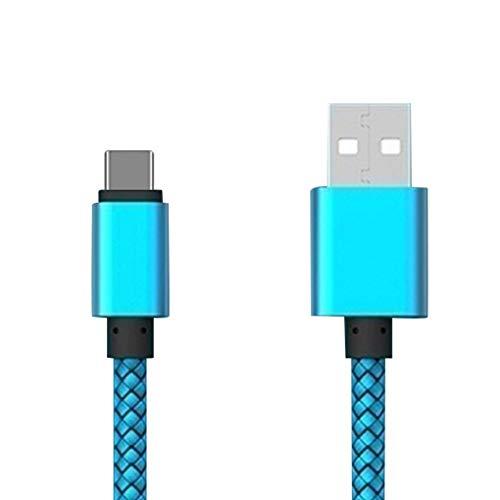 Jinghengrong Multicolor 1m / 2m / 3 Metros de teléfono móvil de Tipo C Cable de Carga rápida de Carga rápida USB Wire Line 2.4A USB Cable de Datos C