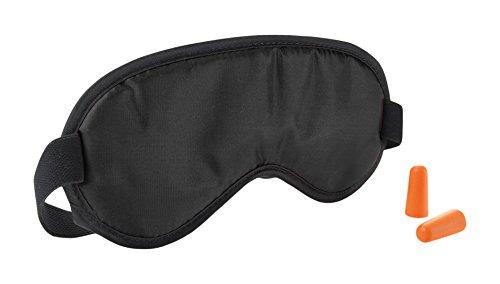 Travel Smart by Conair Eye Mask & Earplug Set, Black