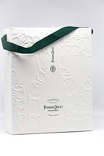 Perrier Jouet Grand Brut Champagner 1x 0.75 l (12{2d8d0fd205fedc7d66a57112ad8fee824d99a0ca9dccae3b37e614d57d78879e} vol. ALC.) + 2 Gläser Set
