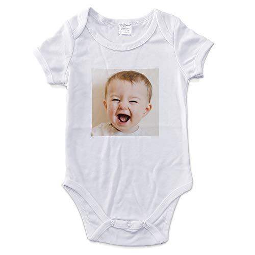 LolaPix Body Personnalisé Bébé avec Photo. Cadeaux Personnalisés pour Enfants. Bodies Bébé Manches Courtes. Différentes Tailles. Tissu intérieur 100% Coton. 9-12 Mois