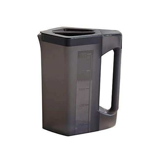 DWQ Jarra Resistente al Calor con asa Jarra de Agua de plástico 68 oz, Juego de Tazas de Agua de hervidor frío para Jugo de Agua de limón (Color : Black, Set : Pitcher)