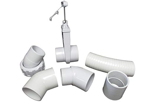 American Spa Parts Dynasty Hot Tub 2' 45° Pump Union to Plumbing Connection Kit