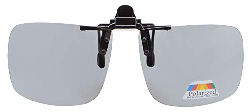 Eyekepper Square Flip gepolariseerde Clip-on zonnebril Grijs