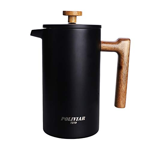 POLIVIAR French Press Coffee Maker, 34 Ounce