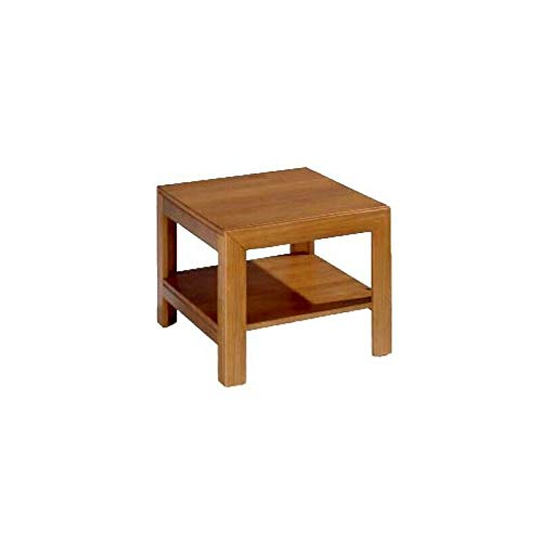 ElleDesign Couchtisch, niedrig, quadratisch, Massivholz, Kirschbaum