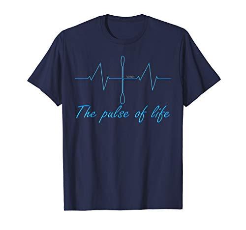 Kanu, Kajak, Kanadier und Paddeln, Pulse T-Shirt. Kayak. T-Shirt