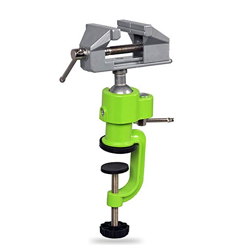 Schraubstock Mini 50mm 360° drehbar Sicheres Fixieren von Werkstücken Maschinenhalterung Tischschraubstock mit Klemmbacken Feinmechaniker-Schraubstock