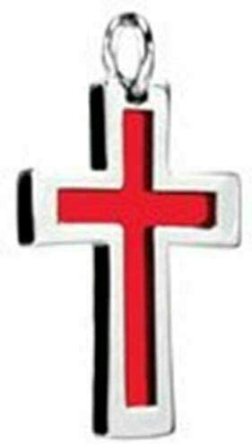 Red Blood Cross Pendant 316L Accessory- Stainless Oakland Mall Steel Easy-to-use Jewelry