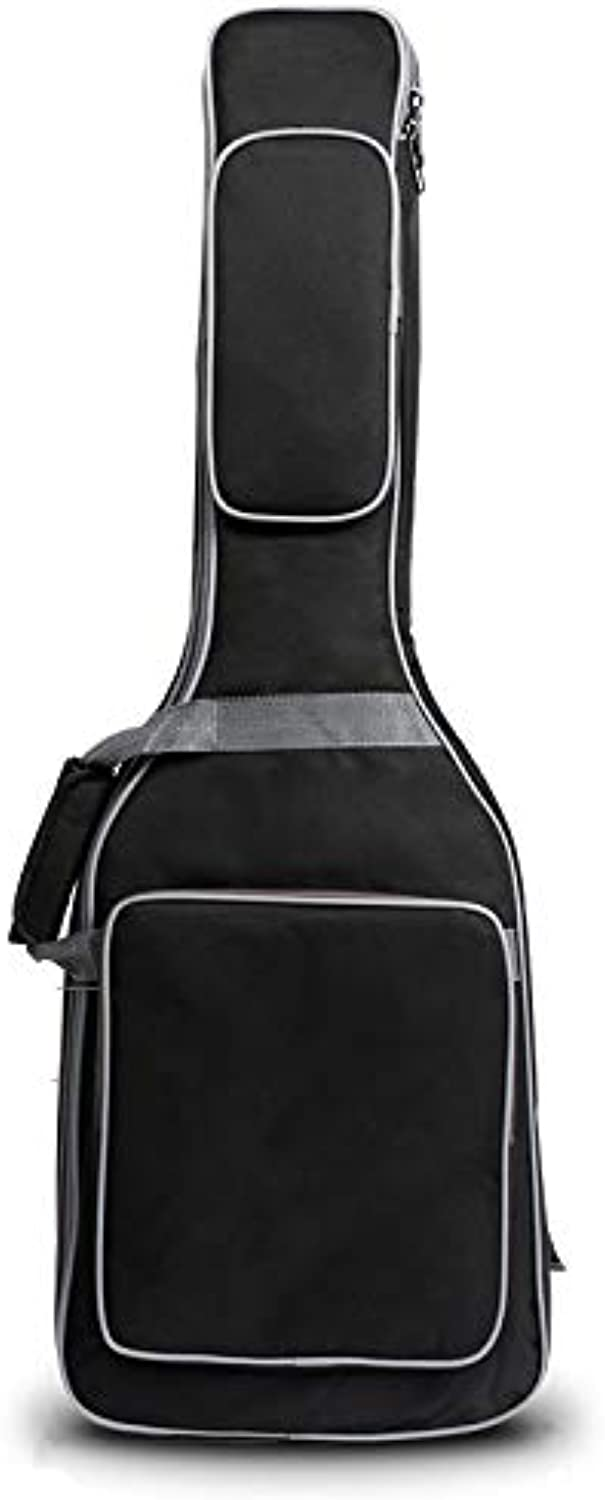 New Electric Guitar Bag Thickened Double Shoulder 10mm Cotton Guitar Bag 41 inch Black