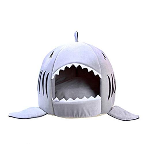 PENVEAT Hundehaus Hai Für Große Hunde Zelt Hochwertige Baumwolle Kleiner Hund Katzenbett Welpenhaus Haustier Produkt, grau, L