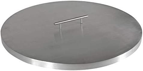 Celestial Fire Glass Fire Pit Cover for 19 Round Burner Pan 22 Actual Size Stainless Steel product image