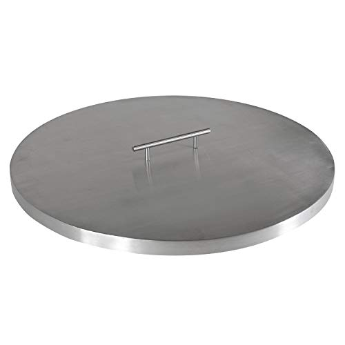 """Celestial Fire Glass Fire Pit Cover for 19"""" Round Burner Pan (22' Actual Size), Stainless Steel"""