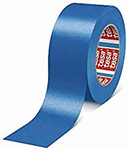 Tesa 4308 Afplakband met ovenlak, draagpapier, natuurlijk rubber, kleefmassa, 170µm, 50 m x 50 mm, blauw, verpakking van 3...